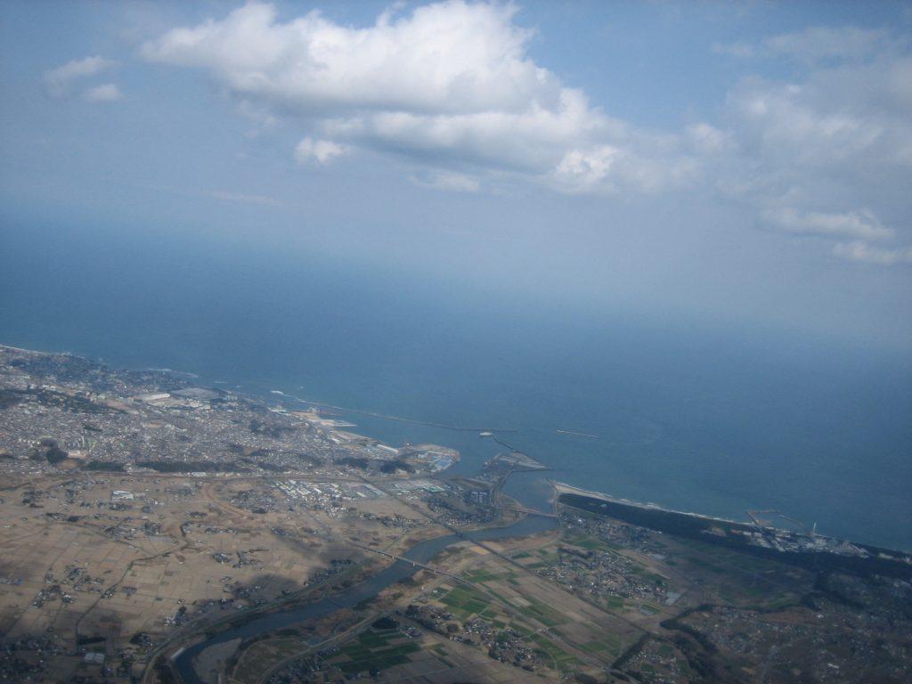 ハンググライダー水平線